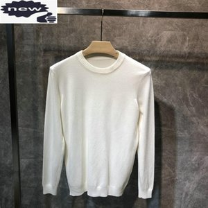 2021 New Autumn Winter Men Tops O-Neck Solid Color Simple Classic Mens Knitted Pullovers Long Sleeve Slim Fit Casual Sweater