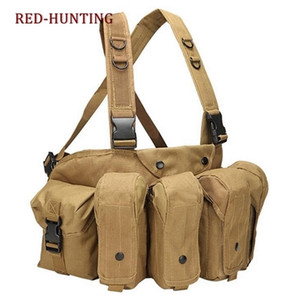 Tactical Vest Airsoft Ammo Chest Rig AK 47 Magazine Carrier Vest Combat Tactical Military Hunting Gear 201214