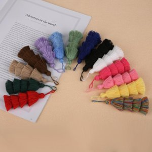 1 pc 4 camadas poliéster algodão borla tassel 8cm borlas de seda para decoração de casamento em casa DIY Costura Cortinas Acessórios H SQCSKW