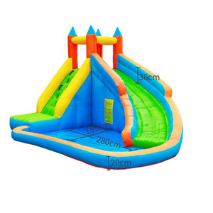 O jardim inflável molhado ou seco da corrediça supplie a jumper da casa de salto dos corrediças do salto do salto para crianças parques de água do partido ao ar livre com pulverizador