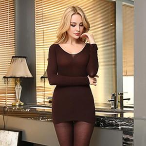 New Women Thermal Underwear Sets 37 Degree Constant Temperature Long Johns Super Elastic Ultrathin Heat-generating Tops Bottoms
