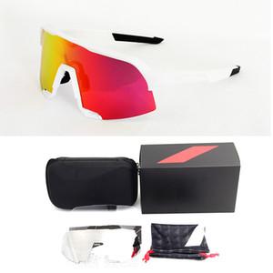 2020 새로운 100 S3 승마 고글 UV400 남자 안경 야외 스포츠 방풍 및 샌드 방지 자전거 변색 선글라스 세트 J1224