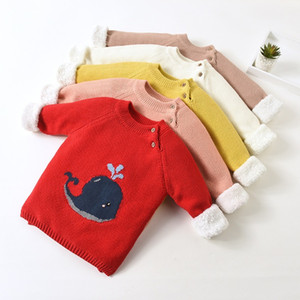 Children's Clothing Warm Sweaters for Baby Girls Kid Boys Babe Autumn Infant Toddler Plush Sweater New Cartoon Winter Pullovers