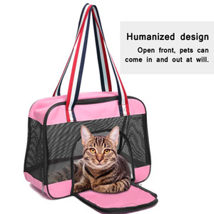 Portable Dog Carrier Bag Breathable Mesh Pet Puppy Travel Bag Backpack Outdoor Shoulder Bag For Small Dogs Cats Chihuahu wmtKnr