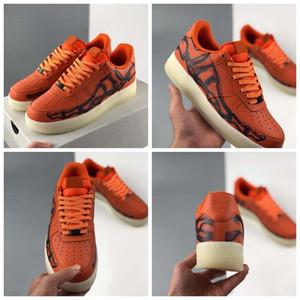 Hızlı 2020 Yeni Yayın Turuncu İskelet QS Erkek Koşu Ayakkabıları Kadın Sneakers1s Cadılar Bayramı Kaykay SN