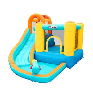 Inflatable Bounce Slide House Jumper Water Slide Park Combo for Kids Outdoor Party Bouncer Slide with Pool Homeuse Amusement Park Fun Play