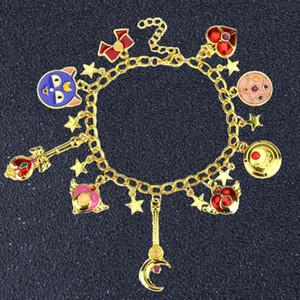 SG Anime Sailor Moon Shielded Star Charms Bracelets Cardcaptor Sakura Magic Girls Star Jewelry Costume Accessories
