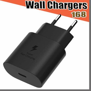 168D fast Wall Charger type c 25W Super Fast Charge Eu US Ac Home Travel Wall Chargers Power Adapter For mobile phone Note 10 Plus S10 5G