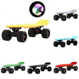 "22"" Mini Cruiser Penny Board 72MM Glowing Flash Wheel Sport Skateboard Complete Ready To Ride Street Surf Banana Fish Board"