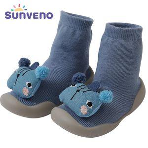 Baby Shoes socks Children Infant Cartoon Socks Baby Gift Kids Indoor Floor Leather Sole Non-Slip Thick Towel