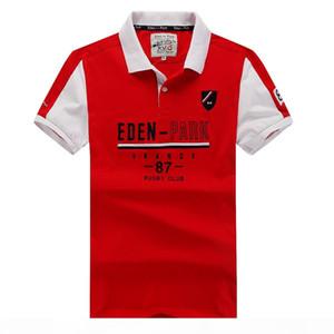 Eden Park Summer Best Selling Curto Polo Homens Nice Qualidade Moda Design Men Polo Homme Tees Homme Tops M L XL XXL Frete Grátis Rápido Shippi