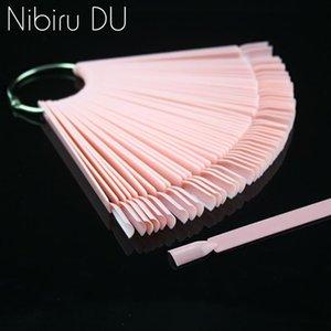 False Nail Tips Color Card Transparent Fan Finger DIY Nail Display Art Practice Acrylic UV Gel Polish Manicure Tool