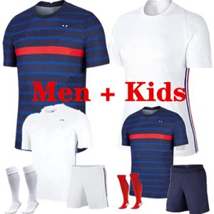Mbappe Griezmann Pogba Giroud Kante Francia Jerseys 2021 Casa Away Soccer Jersey Camicie da calcio Adult Men + Kid Kit