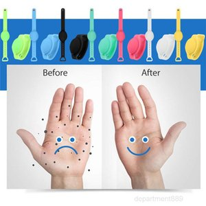 Silicone Refillable Wristband Hand Sanitizer Bracelet Wearable Sanitizering Dispenser Travel Gel Holder OWE2477