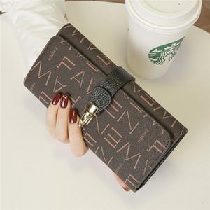 HBP Новая мода кожаная пряжка кошелек женская длинная большая емкость Многофункциональный мобильный телефон кожаный кошелек сумка