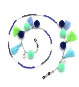 1pcs Fashion Design Women Acrylic & Cashmere Ball Glasses Rope Lanyard Sunglasses Chains Exquisite Glasses Cord Q sqcOsH