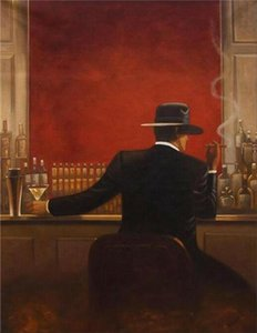 Modern cigar bar Men Home Decor Handpainted &HD Print Oil Painting On Canvas Wall Art Canvas Pictures , F201201