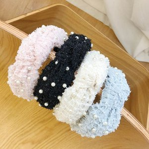 Fashion pearl headbands Boutique hair sticks girls designer headbands kids head bands hair accessories for headband B2730
