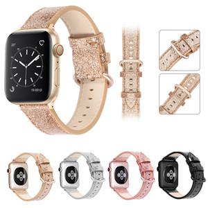 Slim Fit Döngü Tasarımcı Için Apple Watch Band Deri Bant 40mm 44mm IWatch 38mm 42mm Apple İzle Kayışı Serisi 5 4 3 2 1 iWatch Bantları