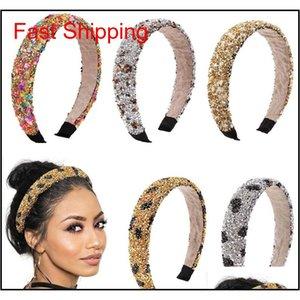 Retro Hair Hoop Natural Healing Crystal Stone Headband Sponge Leopard Print Woman Fashion Hair Band Acc jllkCz bdegarden