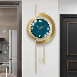 새로운 미국 스타일 벽 시계 현대 디자인 홈 장식 시계 벽 장식 스티커 하우스 매달려 디자이너 시계 아트 스윙