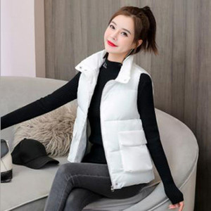 Wholesale fashion women's autumn and winter new style short thick loose cotton waistcoat M-6XL
