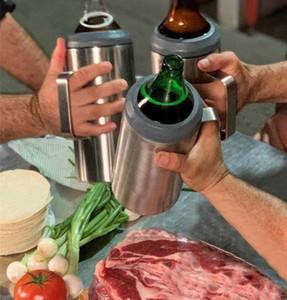 Cerveja Cold Storage Tanque de 64 onças Super Grande Capacidade de aço inoxidável de vácuo 2.0L Cold Storage da lata de cerveja fria Coca-Cola pode EEA2181