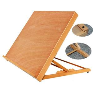 Portable Fold Table top Desk Easel Adjust Angle Sketch Box Drawing Board Drawer