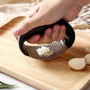 Portátil Aço Inoxidável Alho Press Garlic Chooper Mão Alho Press Garlics Moedor Grande Cortador Slicer Cozinha Gadget PPD69
