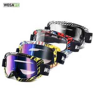 Wosawe открытый мотоцикл очки Велоспорт MX Off-Road Ski Sport ATV грязные велосипедные гоночные очки Motocross Goggles катание на лыжах Google Q0107