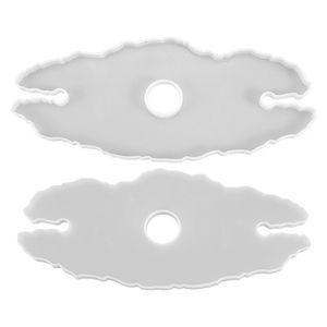 Epoksi Reçine Silika Jel Kalıplar Tepsi Kalıp Düzensiz Şekilli Dantel Gözlük Şarap Bardak Tutucu Kalıp Pürüzsüz Şeffaf DIY Moda 4 5XC N2