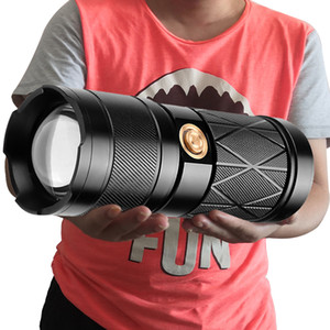 Z30 XHP90.2 Super Bright Led Double Head Flashlight Waterproof Rechargeable Zoomable Torch Work Light Spotlight Floodling Lantern