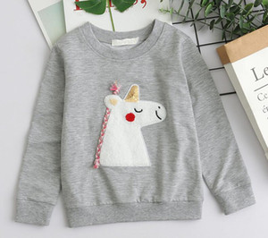 Hot sale new luxury design cute long-sleeved shirt pony kids sweatshirt high quality casual cute all-match kids top free shipping
