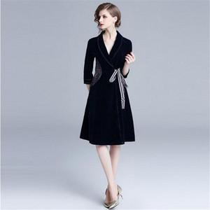 Spring Autumn Women Long Trench Coat New Brand Fashion England Style Vintage V-Neck Elegant Female Outerwear Stylish Coats