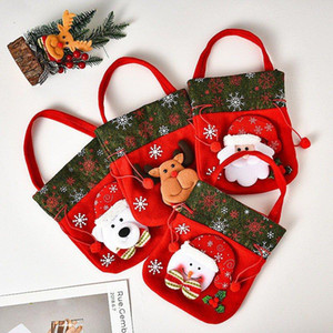 Christmas Candy Party Gift Bag Decorations Xmas Storage Packing Wrapper Supplies Christmas Decoration New Year Kids Gifts Bag 7