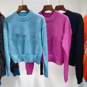 1101 Frete grátis 2020 Marca de outono Mesmas estilo regular manga longa tripulação pescoço kint suéter rosa mulheres negras roupas Qian