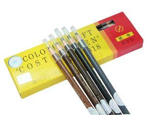 12PCS Waterproof Eyebrow Pencil Enhancer Makeup Pencil Pen Permanent Eye Liner Brow Pencils Paint Cosmetic Tool