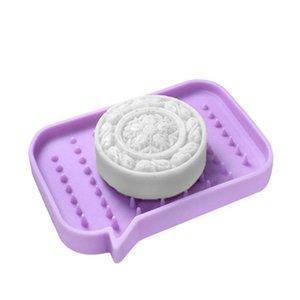 실리콘 비누 홀더 스토리지 랙 드레서 비누 상자 트레이 비누 상자 샤워 비누 트레이 접시 플레이트 홀더 욕실 도구 13.2 * 9 * 1.8cm DBC BH4509