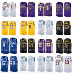 6 James 23 LeBron Jersey 2020 2021 NUEVO LOS ÁNGELESLakersKobe824Bryant Basketball Jerseys Black Mamba