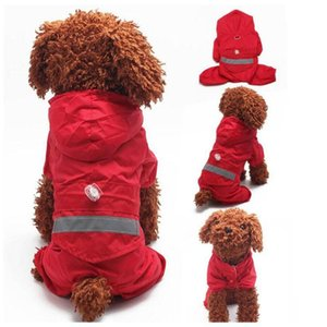 Fashion Pets Raincoat Outdoor Camouflage Reflective Dog Rain Coat Cute Hoodies Poncho For Teddy Bichon Dog Costume Umbrella
