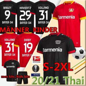 Bayer 04 Leverkusen Soccer Jerseys Havertz 20 21 Voller Leverkusen Alario 19 20 Fußball-Hemd Bailey Diaby Men + Kids Kit Jersey