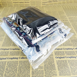 50pcs Clear Plastic Slide Zipper Storage Bag With Vent Reclosable Clothes Underwear Zip Lock Package Bag Sundries Pack Polybag H bbyKgF