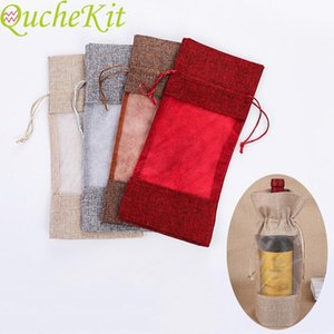 New 2020 Christmas Wine Bottle Cover Merry Christmas Gift Packaging Bag Home Decoration Navidad Natal Gifts New Year 2020
