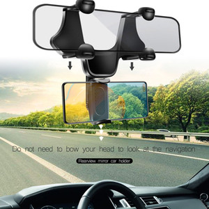Support de téléphone portable pour le montage de la voiture 360 Rotation de bus de bus arrière vue arrière miroir de camion auto pour iphone samsung mobile téléphone universel