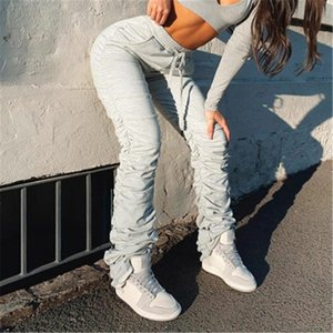 Ladies Pile of Pants Fashion Trend Bandage High Waist Drawstring Sports Pencil Trousers Designer Spring Female Casual Loose Gathered Pants