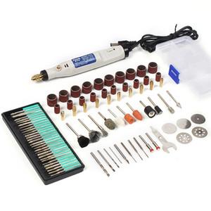 Herramienta de rotación de la pluma de grabado de 18V Mini con accesorios de molienda Conjunto Mini pluma de grabado multifunción para Dremel Tools 201226