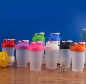 400ml Sport Bottle Shaker Mixer Bottle Plastic Shaker Bottle Sport Fitness Shaker Agitatore Bottiglie d'acqua KKA7011-1