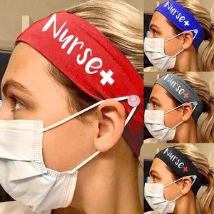 7 Colors Women Yoga Fitness Headband Stretch Milk Silk Nurse Button Hairband Designer Outdoor Sports Head bands Hair Accessories