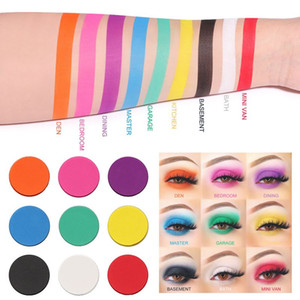 CmaaDu 9 Colors Matte Shimmer Eyeshadow Palette Waterproof Glitter Diamond Pigment Highlighter Eye Shadow Powder Makeup 50sets lot DJL free