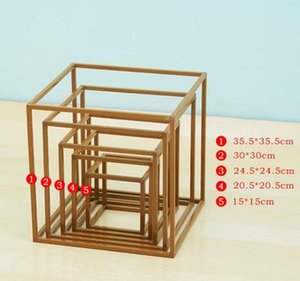 Wedding Prop Flower Stand Arch Road Lead Decor Artificial Flower Wrought Metal Iron Square Block Wedding Birt bbymVg yh_pack